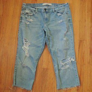 Abercrombie Fitch Cut Off Capri Jeans Womens Sz 31